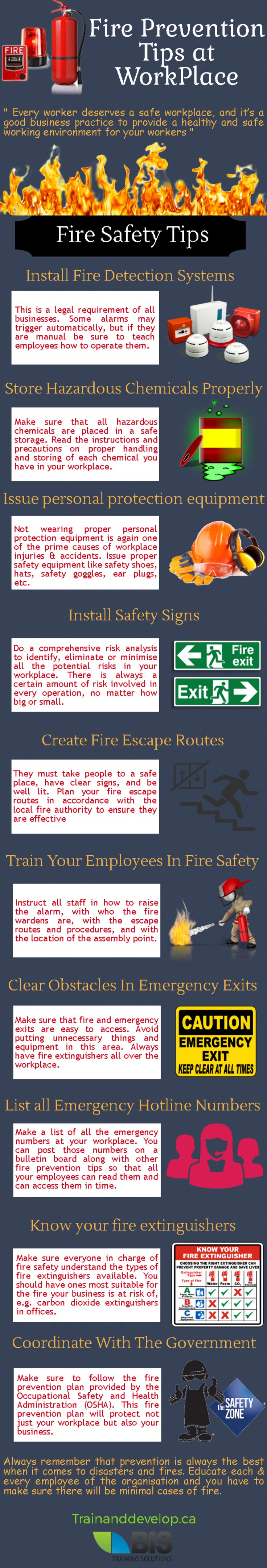 Top 5 Fire Prevention Tips at Workplace #firesafety #prevention #tips