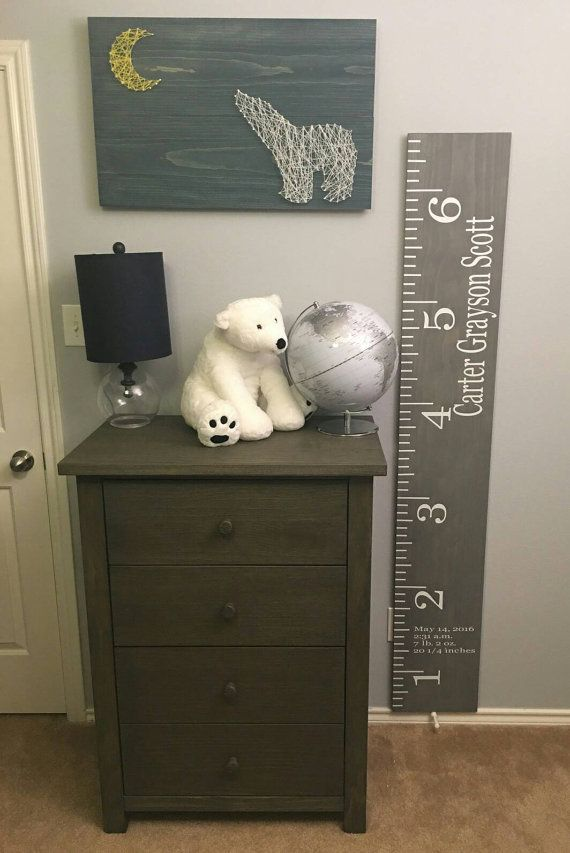 Wooden Growth Chart Customized Growth Height by CocoAndCarter