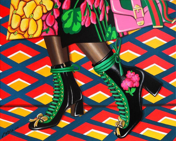 Gucci acrylic on canvas 60x50 cm 2016