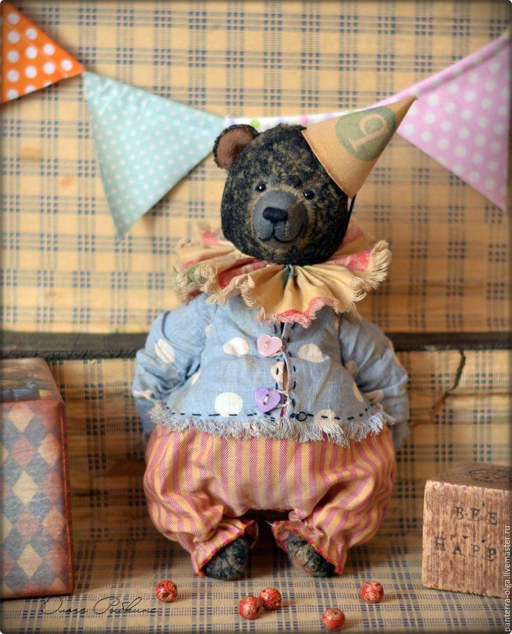 Купить авторский мишка тедди Петр - черный, мишки тедди винтаж, мишки Тедди купить