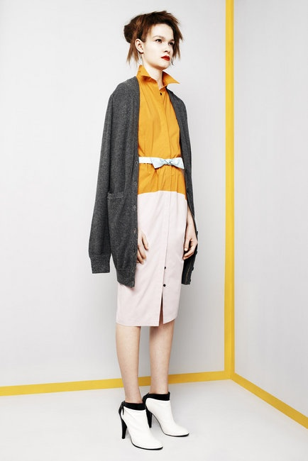 Look 9 Ignition Cardigan and Collider Shirtdress