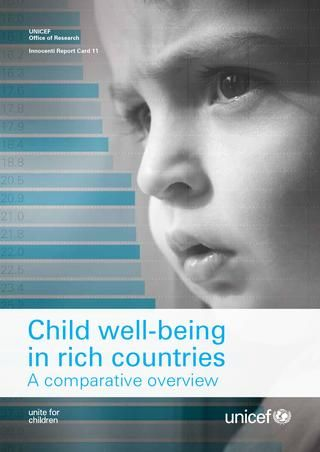 Child Well Being in Rich Countries: A Comparative Overview