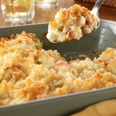 Still not sure what to bring to your holiday get-together? Oven Hash Brown Potatoes are the perfect combination of savory and creamy. Yum!
