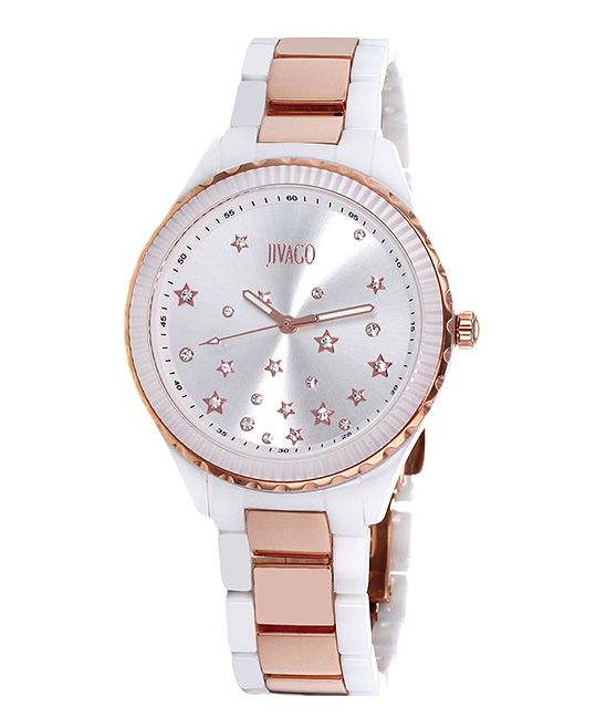 Silver & Rose Gold Sparkle Sky Watch