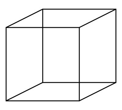 Necker Cube Illusion - Ambiguous Images: Accidental Viewpoint
