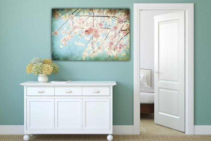 "Farbe - Leinwand ""S a k u r a  "" 90 x 60 cm - ein Designerstück von Heavensblue-Fotografie bei DaWanda"