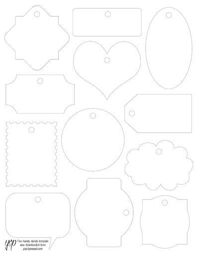 Reusable Fabric Tag Template