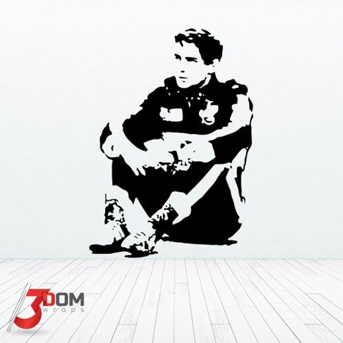 Ayrton Senna thinking, thought provoking and beautiful wall decal, vinyl art for Motorsport fans by 3Dom Wraps