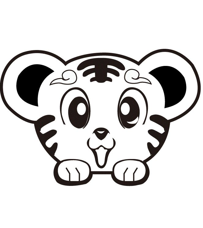 Super Cute Tiger Lions And Tigers Cute Coloring Pages