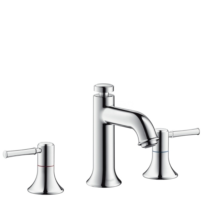 Image Of Buy the Hansgrohe Chrome Direct Shop for the Hansgrohe Chrome Talis C Widespread Bathroom Faucet with EcoRight Quick Clean