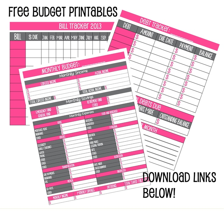 free weekly budget worksheet printable Bire1andwapcom