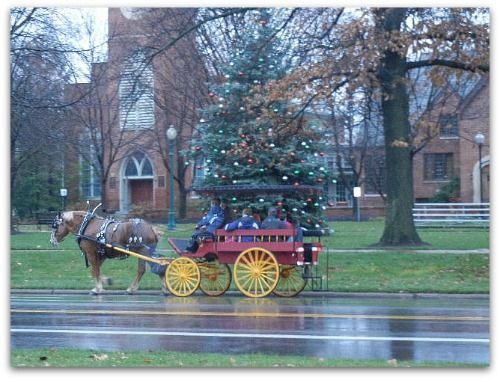 December 2011 carriage passing the Green.
