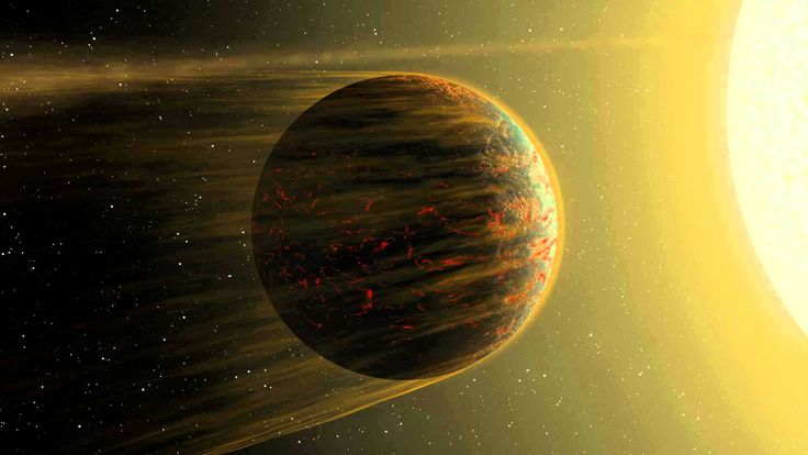 The most detailed map of a small, rocky 'super Earth' to date reveals a planet almost completely covered by lava, with a molten 'hot' side and solid 'cool' side. | The University of Cambridge #astronomy #space #exoplanets #astrophysics