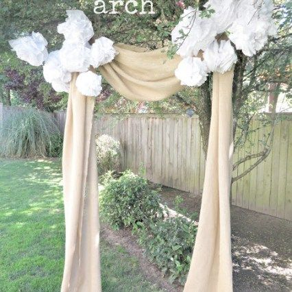 Looking For An Easy Inexpensive Idea To Decorate For Your Wedding.be Sure  To Check Out This Burlap Wedding Arch.