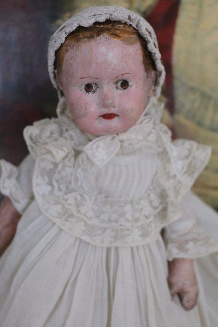 """Loved condition - think of her as the """"Velveteen Rabbit"""" of the doll world. Antique Alabama baby cloth doll. Made by Ella Smith of Roanoke, Alabama at the turn of the century. Handpainted facial features with painted brown eyes.   eBay!"""