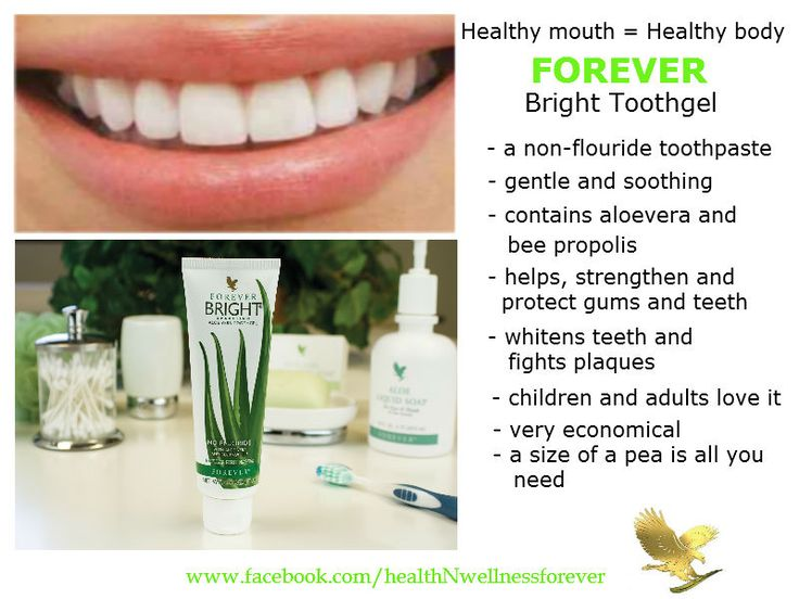 Forever Bright Toothgel - a non fluoride one of a kind toothpaste - cleans, strengthens, supports, protects and maintains healthy gums and teeth. Artikelnummer 28 - 9.92euro