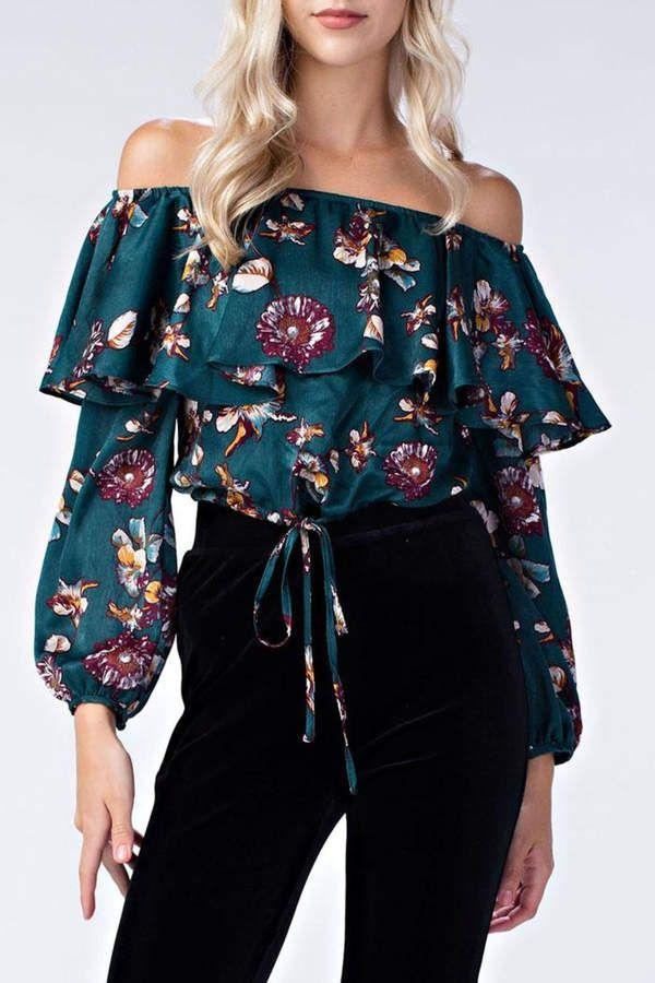 honey belle Floral Off-Shoulder Top