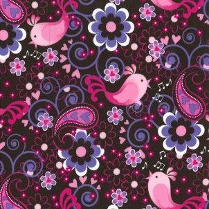 Plush Addict - Michael Miller - Birdsong Pink