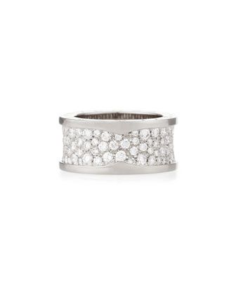 estate bvlgari 18k pave diamond bzero1 ring size 7 by lc estate jewelry