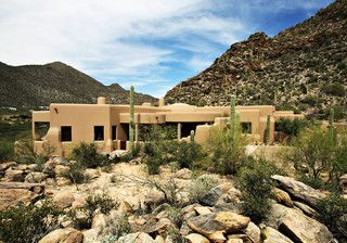 Dove Mountain Home IV - mediterranean - exterior - phoenix - by Robinette Architects, Inc.