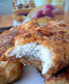 Ultimate Chicken Fingers- Bisquick, parmesean, garlic powder, paprika & salt. Mix those ingredients together, dunk chicken tenders in some egg and into the bisquick mixture and onto a cookie sheet. Spray with Pam and bake at 450 until crispy!