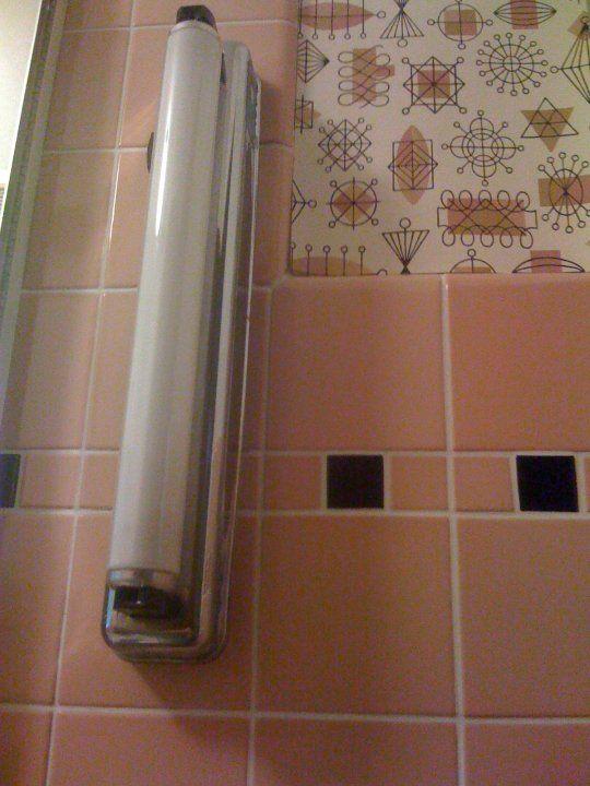 Save The Pink Bathrooms! Featuring Atomic Doodle Wallpaper By Bradbury U0026  Bradbury