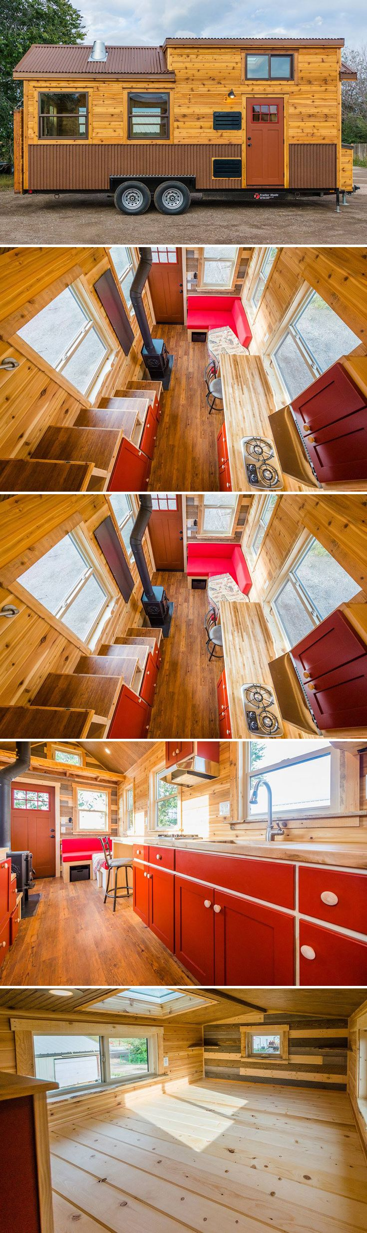 Fully equipped for living off-grid in the Colorado mountains is this 22' tiny house on wheels, complete with solar power system and 70-gallon water tank.
