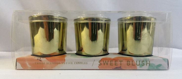 Sweet Blush 3 Floral Scented 2.3 oz Votive Illume Candles 20 hr burn time…