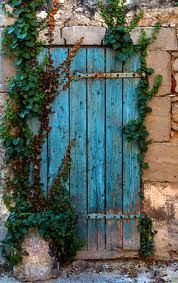 the almost hidden blue door
