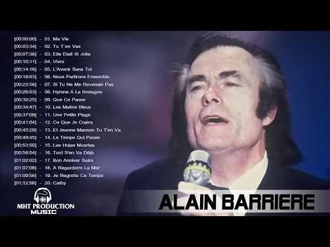 Alain Barrière Best of - Alain Barriere Les Plus Belles Chanson - Meilleure playlist Alain Barriere - YouTube