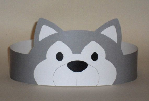 Wolf Paper Crown  Printable by PutACrownOnIt on Etsy, $2.00