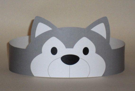 Wolf Paper Crown  Printable by PutACrownOnIt on Etsy, $2.00