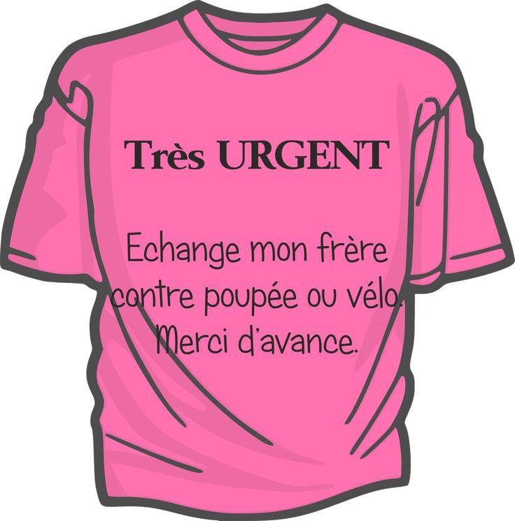 Urgent, échange...- tee-shirt enfant coton flex : Mode filles par sublitoo