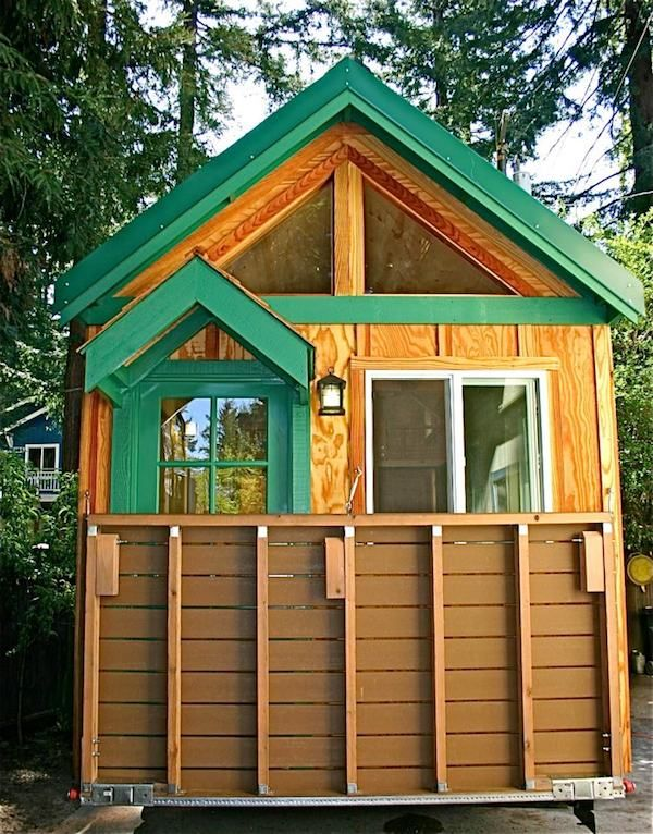 Porch Flipped Up On Tiny House This Molecule Tiny Home Uses The Idea I Have Been