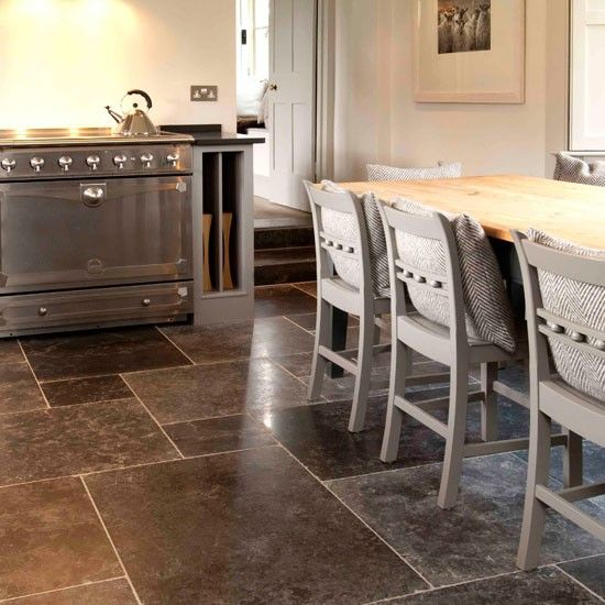 94 Best Belgian Blue Stone Images On Pinterest  Homes Kitchens Glamorous Stone Floor Kitchen 2018
