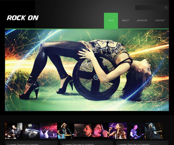 Rock On Website Template