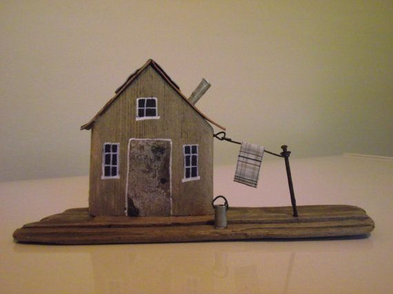 Handmade Driftwood House 03 by 50thParallel on Etsy