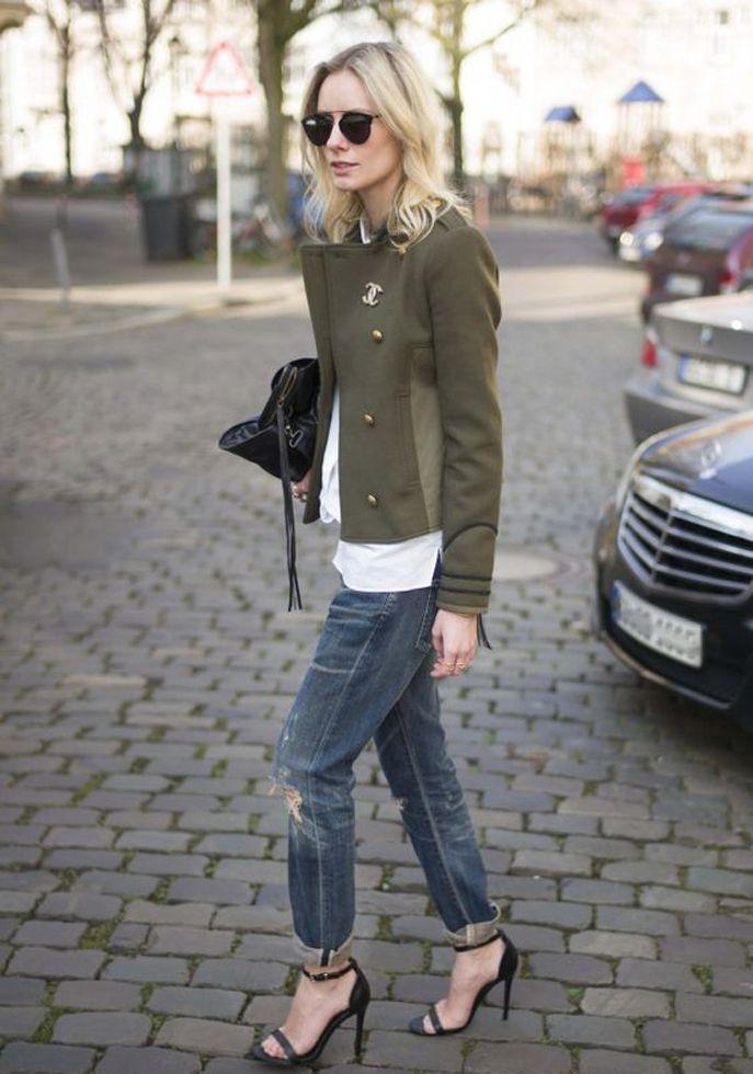 Pinterest : 20 façons de porter du kaki ce printemps | Glamour