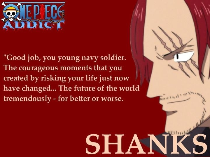 One Piece Quotes   Red Hair Shanks Friendship Quote Opheaven Blogspot Com Onepiece