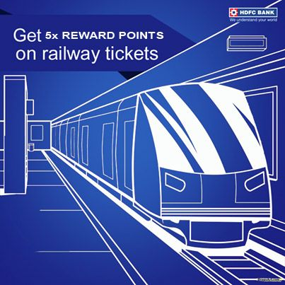 Beat the #railway price hike! Get 5x Reward Points while booking train tickets at IRCTC using your HDFC Bank Credit Card  #IRCTC #HDFC #Reward #Discount #Train #Shopping #India