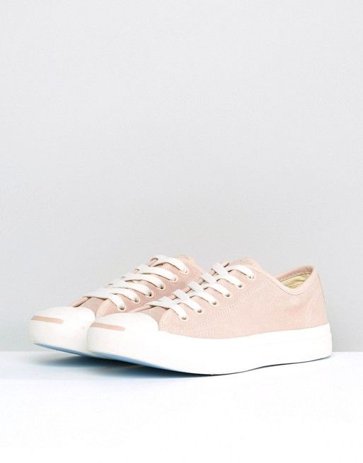3796921e4cfd Converse Jack Purcell Suede Sneakers In Dusky Pink