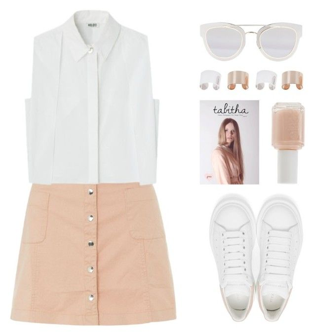 """""""Innocence"""" by felytery ❤ liked on Polyvore featuring Innocence, Alexander McQueen, Essie, Maison Margiela and Christian Dior"""