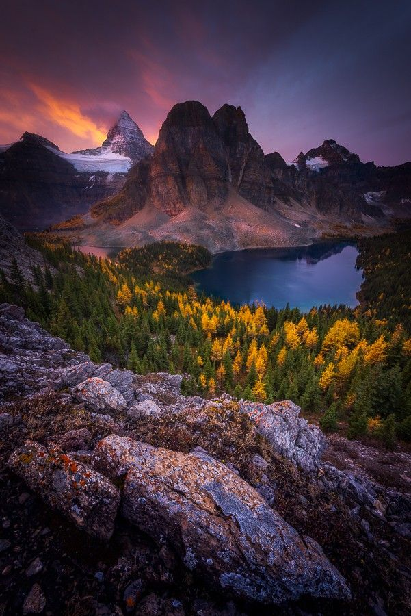 Fire and Glory, Mount Assiniboine Provincial Park, BC, Canada