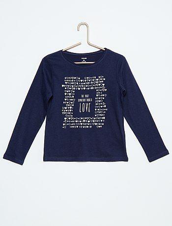 Camiseta de manga comprida estampada - Kiabi  5793d2df670