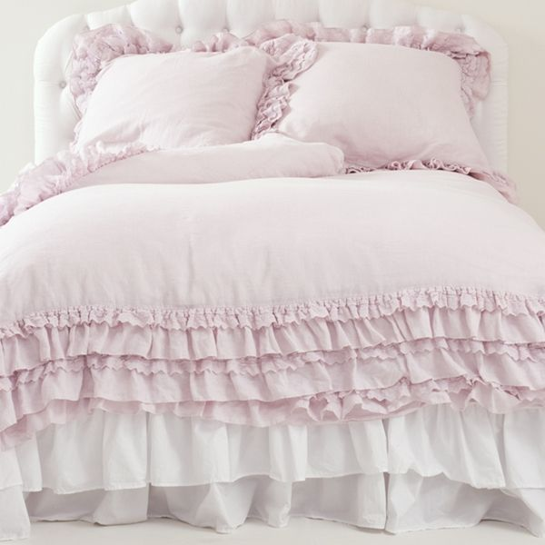 rachel ashwell shabby chic couture petticoat blush duvet lavish lovely in over dyed blush. Black Bedroom Furniture Sets. Home Design Ideas