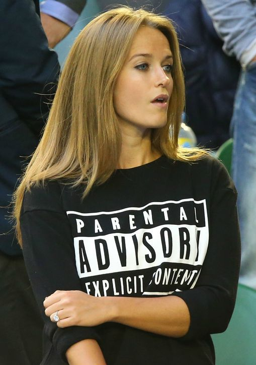Kim Sears' parental advisory shirt