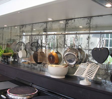 Mirrored Kitchen Splashback