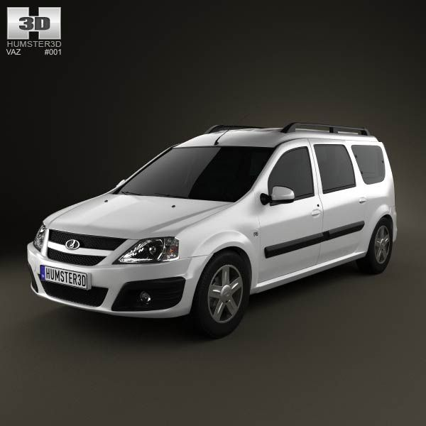 Lada Largus 2012 3d model from humster3d.com. Price: $75