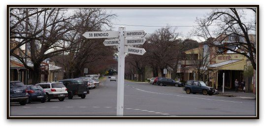 Maldon is in Central Victoria, visiting there is like a step back in time - back to the 'good old' days.