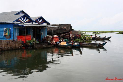 Floating village, Tonle Sap river